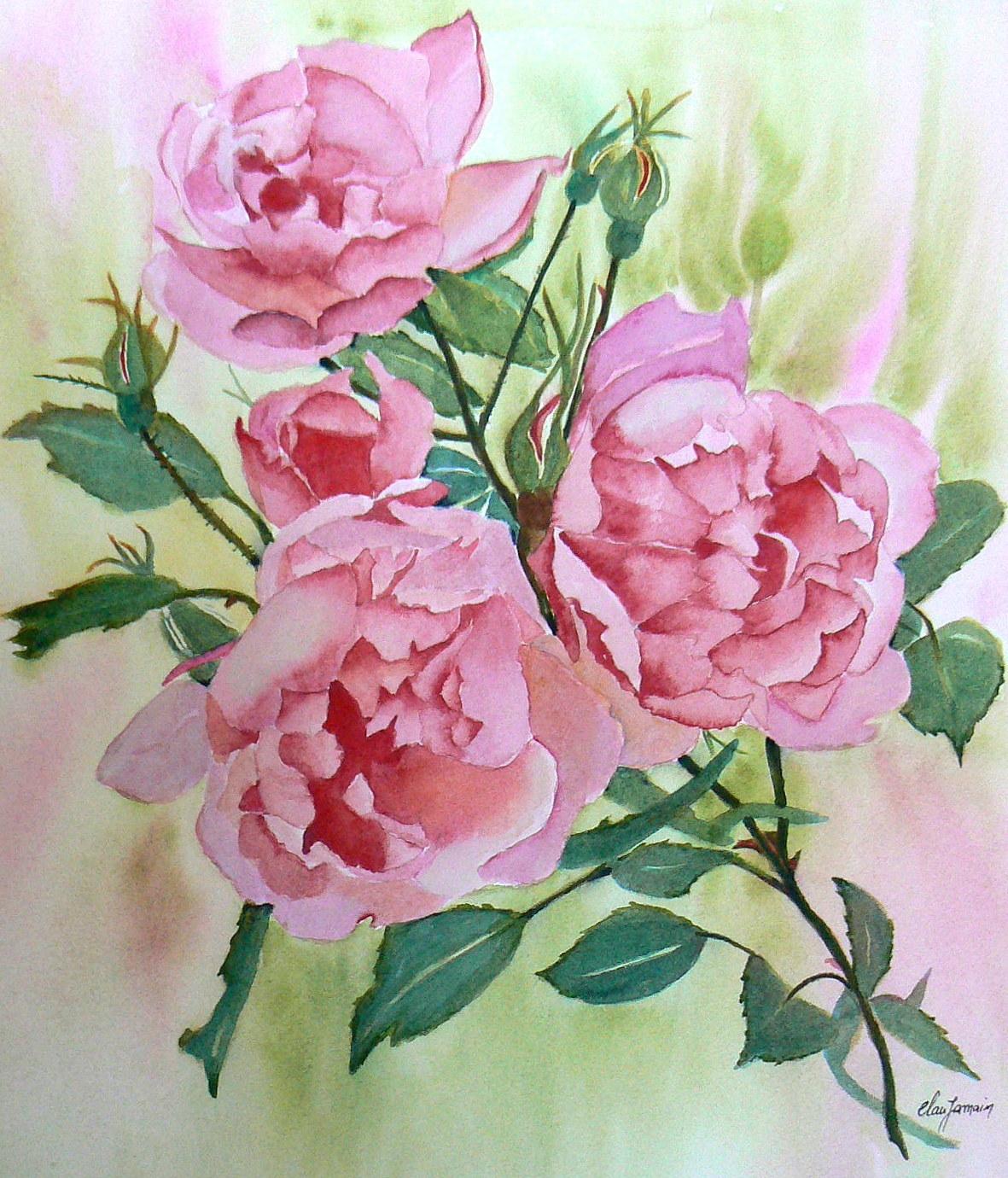 Lesfleursdeclau page 4 for Aquarelle fleurs